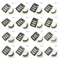 3D faux cils 16 styles beauté à la main beauté épais longs lashes doux faux cils cils de cils sexy 3001078