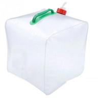 Al por mayor-al aire libre 20L plegable de agua de PVC del agua del portador del envase del agua para acampar