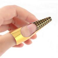 100 adet / paket Tırnak Formu Pro Nail Art Kılavuzu Formu Akrilik İpuçları Jel Uzatma Sticker Oje Kıvırmak Formu