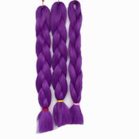 Горячая продажа Pure Color Jumbo плетение волос Ombre Синтетический Kanekalon 3шт / серия Синтетические плетенки 100г / шт Синтетические наращивание волос