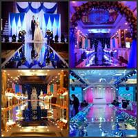 1 M de ancho Shine Silver Espejo Alfombra corredor corredor para la boda romántica favores decoración del partido 2016 nueva llegada envío de DHL