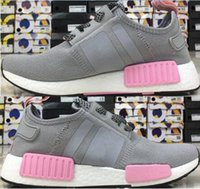 Popular cheaper women pink grey NMD Runner PK Primeknit Runn...