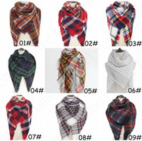 20Colors Women Plaid Scarf Cozy Oversized Tartan Tassel Scar...