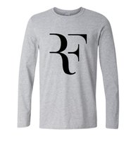 Wholesale- Summer Fashion mma T shirt Men Roger Federer Shirt Brand 100% Cotton High Quality Clothing Tops Tees Men Long Sleeve Shirts