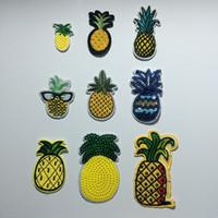 Kumaş Sahte Ananas Kostüm Işlemeli Giysi Yamalar, Meyve Ananas Dikmek / Demir On Patch, Giyim Için Ceketler, Sırt Çantaları