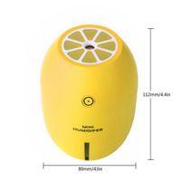 الليمون ميني اير Humidfier USB معطر تنقية مع الصمام مصباح الروائح السيارات الهواء المرطبات