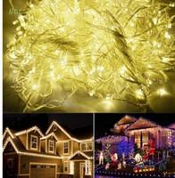 30 M 300 LED Dize Işıklar toptan Beyaz flaş ışığı Noel partisi Peri düğün ışıkları AC110V-220V
