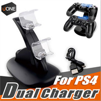 Dual chargers for ps4 xbox one wireless controller 2 usb LED...