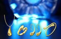 2017 Nuevo estilo plateado 925 Collar de Gota de Oro Pendiente Pulsera Pendiente de la manera de la boda de la joyería conjunto