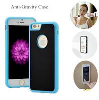 Híbrido magnética gravedad anti Nano succión caja del teléfono de la cubierta para el iPhone 6 7 8 6S XS Plus X XR Max Samsung Galaxy S8 S9 S10 Plus Nota 8 9 Cubierta