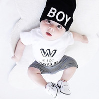 Wholesale Boys Girls Baby Clothing Sets Short Sleeve W tshir...