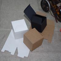 Tubetes 100 قطعة / الوحدة 4x4x3cm-6x6x5cm 6 الأحجام أسود / بني / أبيض 350gsm 1 الثنية cardpaper هدية مربع ديي زجاجات كوميستيك أداء حالة التغليف