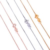 Wholesae 925 Sterling Silver Necklace 0. 7MM Gold Silver Rose...