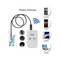 Endoscópio USB Com Caixa De WIFI HD 720 P Inspeção Serpente Câmera 6 LED 9 MM Lente 2.0MP 2 M Para Android IOS USB Wifi Endoscope