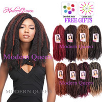 Afro Kinky Curly Twist Marley Braid Hair Extension 18inch 10...