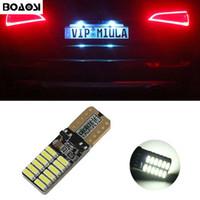 BOAOSI Canbus No Error T10 Lámparas LED de matrícula de automóviles para Peugeot 206 207 306 307 406 407 308 5008