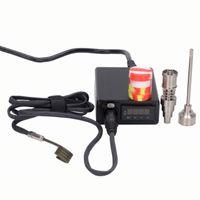 Tragbare E dab Nagel kit D elektrische dab DNail quarz banger titan domeless nagel 16 20mm felmale männlichen PID controller box kits