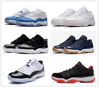 Classic 11 11s Low basketball shoes sneakers barons black Wh...