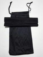 Sunglasse الأسود تنظيف القماش الحقيبة لينة النظارات حقيبة النظارات حالة المرأة والرجل النظارات أكياس + القماش freeshipping 20 قطعة / الوحدة 17.5 * 9 سنتيمتر