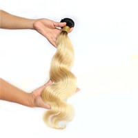 Ombre Menschliches Haarwebart 1 Bündel 1b 613 Brasilianische Körperwelle Haarwebart Nicht Remy Blondes Haar 1 Stück Nur 100g Freies Verschiffen