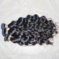 موجة الشعر الطبيعي الخام عذراء المياه متموجة الشعر البشري الهندي غير المجهزة اللحمة 300 جرام / الكثير مستودع سريع