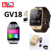 Gv18 sem fio smart watch bluetooth lembrete monitor anti-lost camera para ios android smartphone com a caixa de varejo