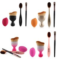 Toothbrush Foundation Brush with a Eyeshadow Brush + Blush B...