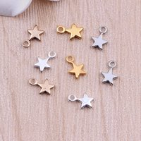 Wholesale Brass Star Charms Pendant for necklace bracelet DI...