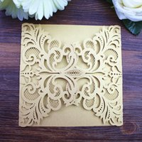 Gold Wed Invitation Party Embellishment Invitation Card Valentines  Day  Thanksgiving Birthday Party Invitation Wedding Supplies Free Ship df821a556a48