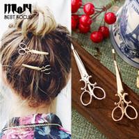 MLJY Moda Makas Şekli Güzel Kadın Kızlar Altın Kaplama Saç Klip Tokalar Noel Partisi Firkete Saç Aksesuarları 24 adet / grup