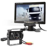 Sistema di retromarcia DC12V-24V 7 pollici TFT LCD Car Monitor + IR Night Vision Telecamera CCD vista posteriore + Telecomando
