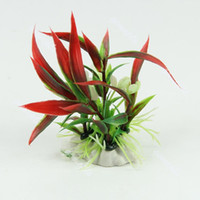 Aquarium Fish Tank Landscape Ornament Decor Red Artificial P...