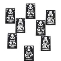 10 PCS Punk Skull Badges Cool Toppes per Abbigliamento Iron Ricamato Patch Applique Applique Ferro su Patch Accessori per cucire calde per fai da te