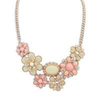 Богемный жемчужина цветок ожерелье Короткий параграф ключицы цепи конфеты цвет украшения ожерелье бесплатная доставка