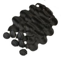 6 paquetes onda corporal tejido de pelo al por mayor natural marrón sin procesar brasileño peruano camboyano malasio crudo virgen indio pelo humano