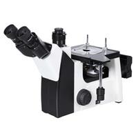 Microscópio metalúrgico invertido JX-200E, microscópio de Trinocular