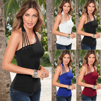 Sommer Milch Seide Backless Crop Top Verband Bralette Neck Halter Tanks Frauen Low Cut Casual Weste Tank Solid Crochet NN-053