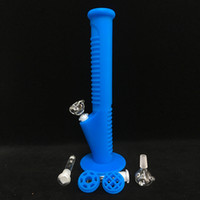 Free shipping Silicone Water Pipes 14 inch Sky Blue 2017 New...