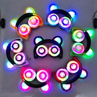 Foldable Bear Ear Recharging Headphones Panda Ear Games Head...