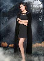 Adulto brujo bruja Capes Disfraces de Halloween Capa Muerte Cosplay de Halloween Prop muerte capucha Capa Diablo manto con capucha adulta del Cabo