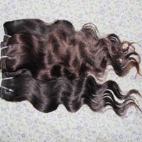 Сексуальная королева король красоты обработанные наращивание волос перуанский плетет 5 пучков / лот самая дешевая сделка распродажа