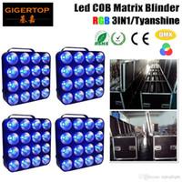 Gratis frakt Flightcase 4In1 Förpackning 4Xlot LED-matris 16x30W COB-blinkning DMX 512 Control 6/24/48/96 Kanal 3in1 Färg 90V-240V