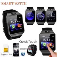 DZ09 Akıllı İzle Bluetooth Smartwatches Dz09 Akıllı saatler Android Telefon için SIM Kart ile SIM Kart Perakende Kutusu Akıllı İzle