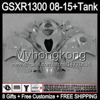 Glans Grijze 8Gifts voor Suzuki Hayabusa GSXR1300 08 15 GSXR-1300 14MY67 GSXR 1300 GSX R1300 08 09 10 11 12 13 14 15 Glanzend Grijze Fairing Kit