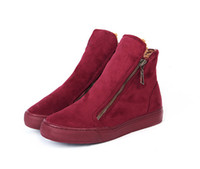 Winter shoes new british style cotton boots side zipper boot...