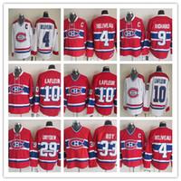 Vintage 10 Guy Lafleur Jersey Montreal Hóquei no Gelo 4 Jean Beliveau 9 Maurice Richard 29 Ken Dryden PATRICK ROY Retro CCM Jerseys