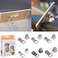 tablero de instrumentos universal bola de metal magnético 360 ° de rotación teléfono celular del coche del anillo de montaje para el iphone 7 y regalo de la promoción mini tabletas creativo