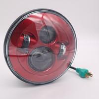 """HOT sale 7"""" LED Headlight For Harley Davidson Motorcycle Projector Daymaker HID LED Light Bulb Jeeps Wrangler LED Headlamp"""