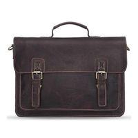 2017 neue Crossbody Taschen Männer Echtes Leder Vintage Schnalle abdeckung Designer 14 zoll Große Messenger Bags Für Männer MB058