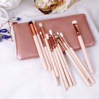 HOT Makeup Tools Rose Golden Makeup Brush 12 Pieces Professi...